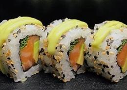 Pikante zalm Sushi