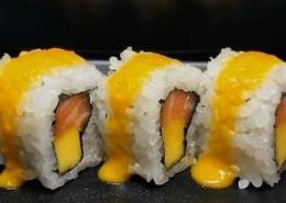 Zalm met Mango Sushi