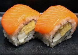 Zalm met Mozzarella Sushi
