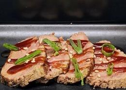 6 stuks gegrilde beef met japanse bbq saus